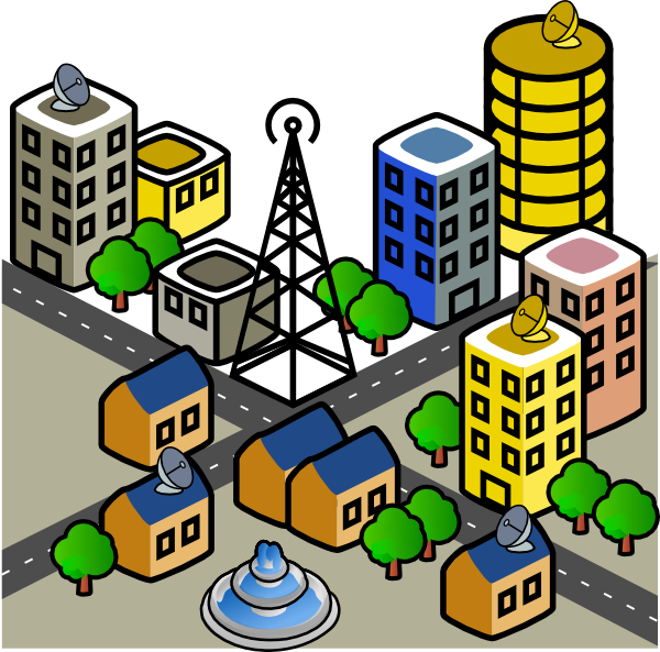 vector royalty free stock Town clipart. City clip art at