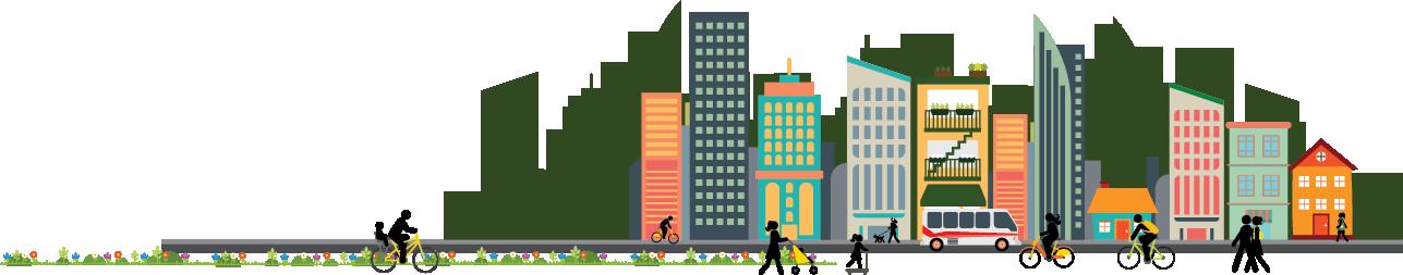 clip library stock City clipart urban sprawl. Living report card trca.