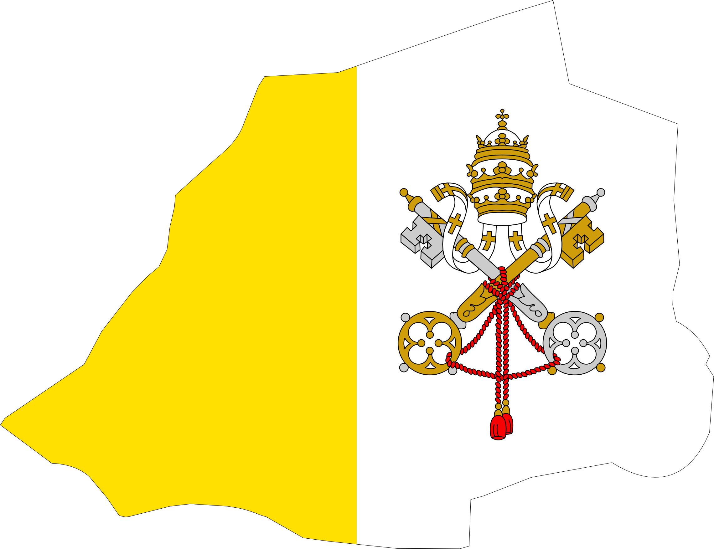 banner library Vatican flag big image. City map clipart.