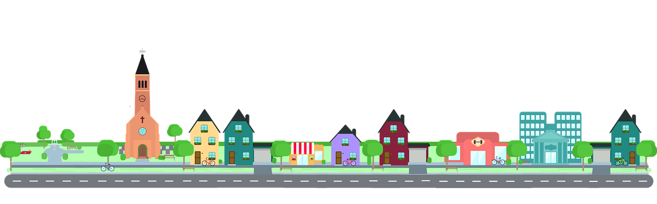 vector royalty free stock Neighbors clipart town center. Neighborhood housing area free.