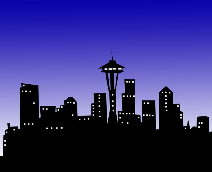 image black and white Free buildings cliparts download. City night clipart.