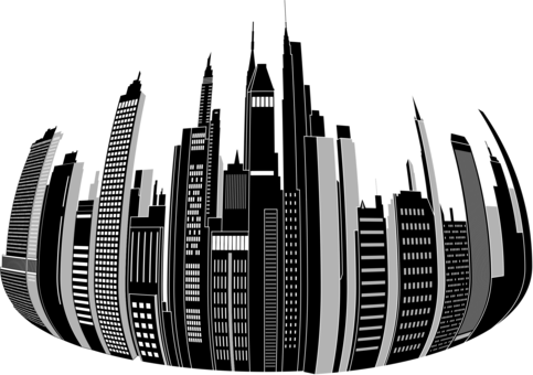 jpg royalty free Computer icons cities skylines. City skyline clipart black and white