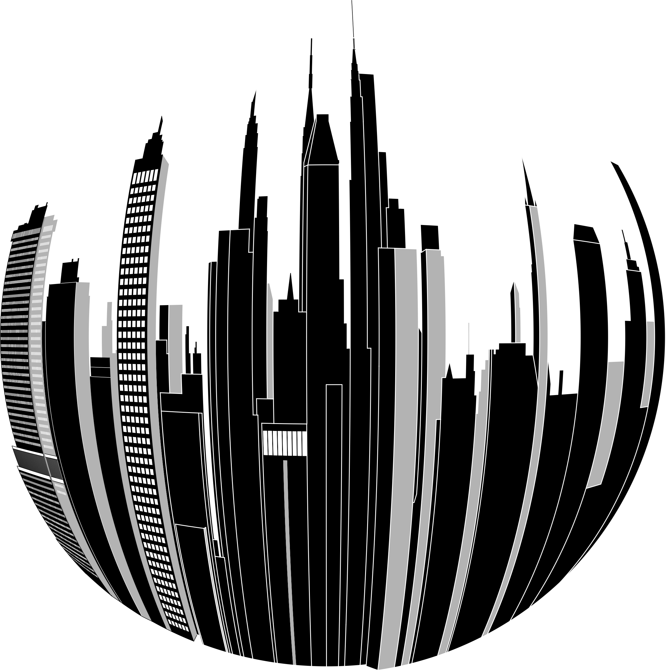 image free stock Distorted skyline image png. Cityscape clipart big city.