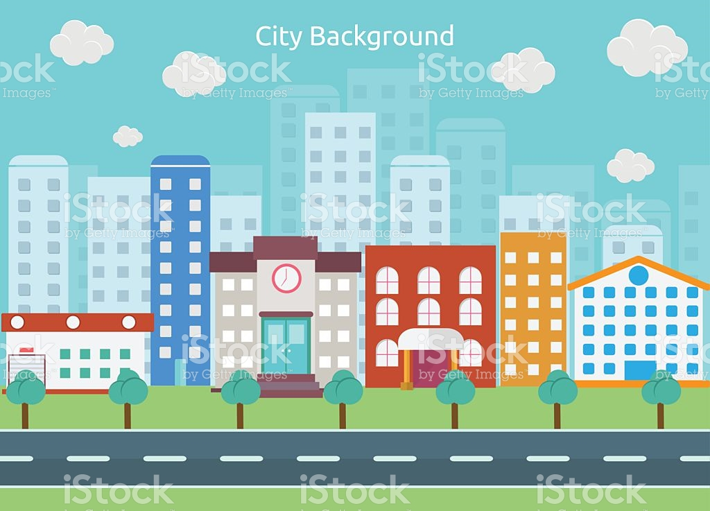 clip art transparent library City street clipart. Station .