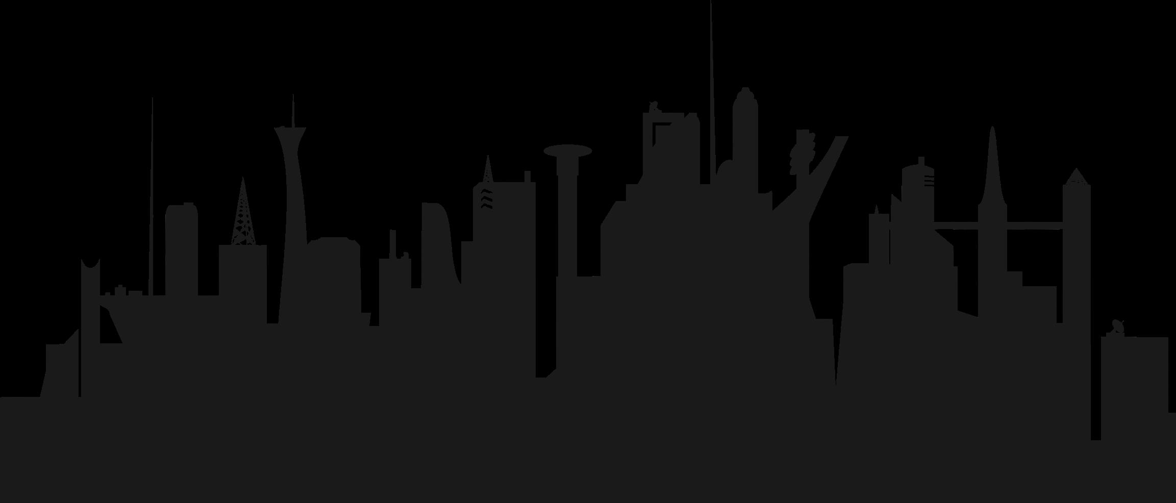 clip free library Futuristic skyline image png. Cityscape clipart big city.