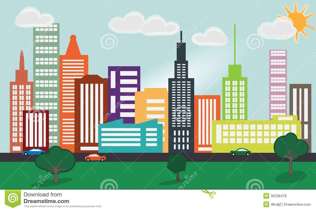 clip art royalty free stock Transparent . Cityscape clipart big city.