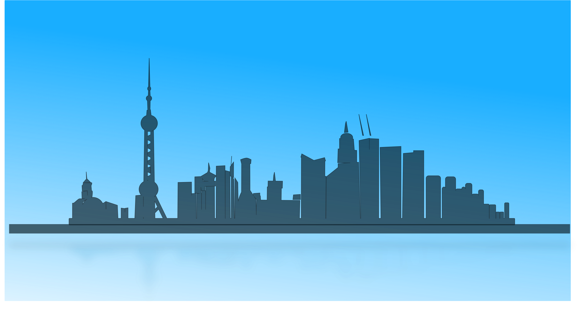 banner library download Cityscape clipart big city. Shanghai skyline image png.