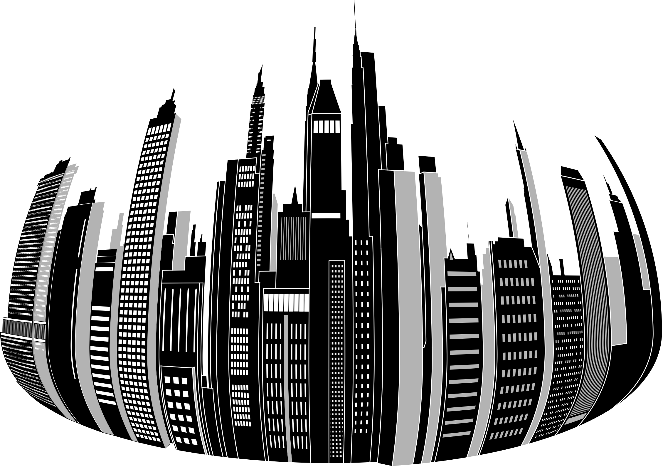 picture library library Cityscape clipart big city. Distorted skyline image png.