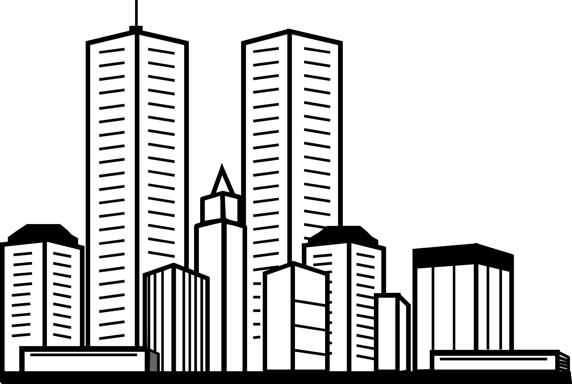 clip art transparent stock skyscraper coloring sheets