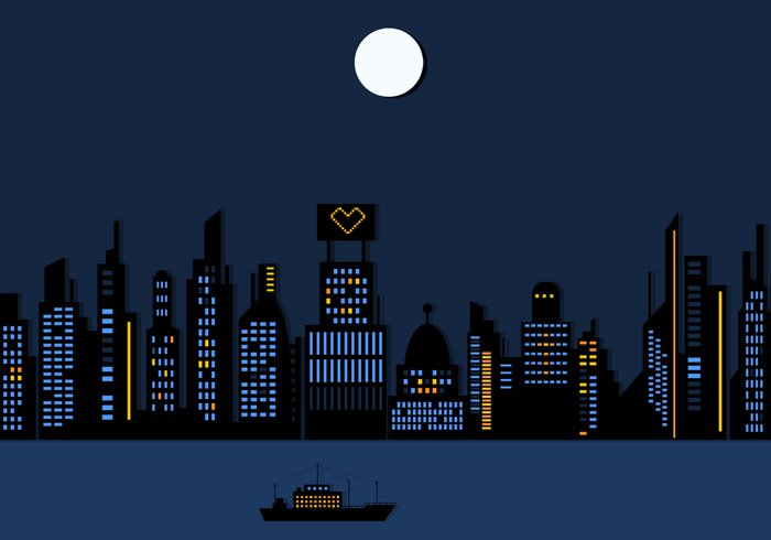clip free library Download for free png. Cityscape clipart night time.