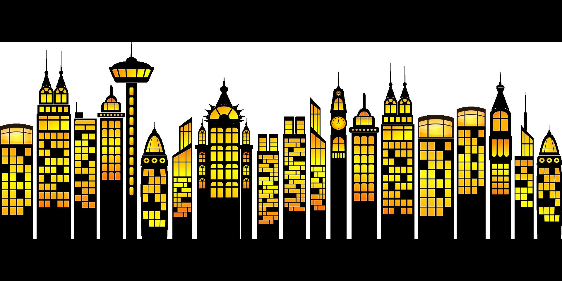 graphic download Cityscape clipart simple. Building clip art transprent