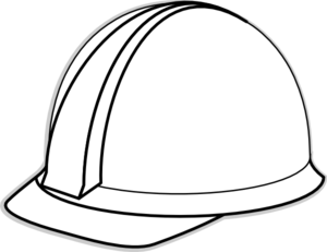 clip freeuse Hard hat clip art. Construction clipart black and white.