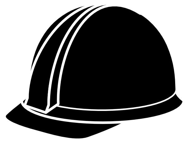 vector download Black Hard Hat Clip Art at Clker