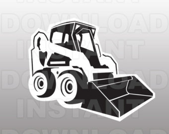clipart royalty free Bulldozer skid steer . Civil clipart equipment bobcat.