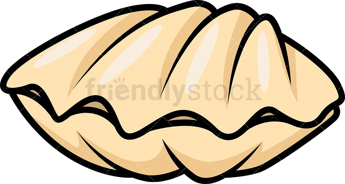 image transparent Shell crafty things in. Clam clipart cartoon.