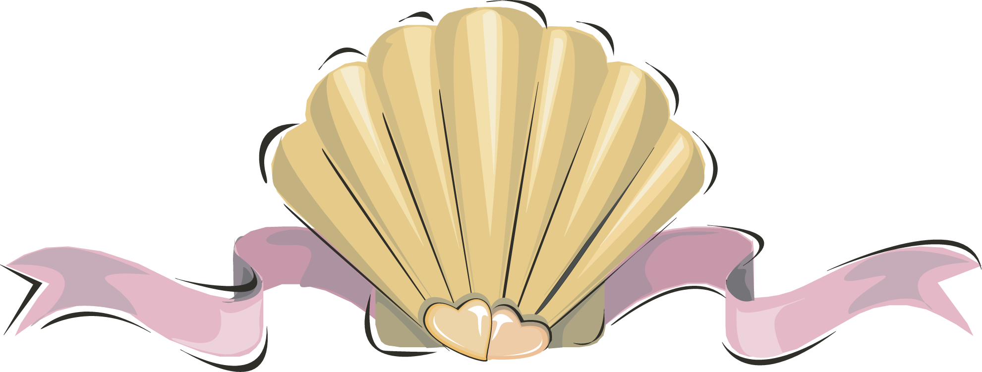 clipart black and white library Clam clipart clamshell. Oyster seashell clip art.