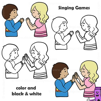 clipart royalty free library Clap clipart childrens game. Singing games clip art.