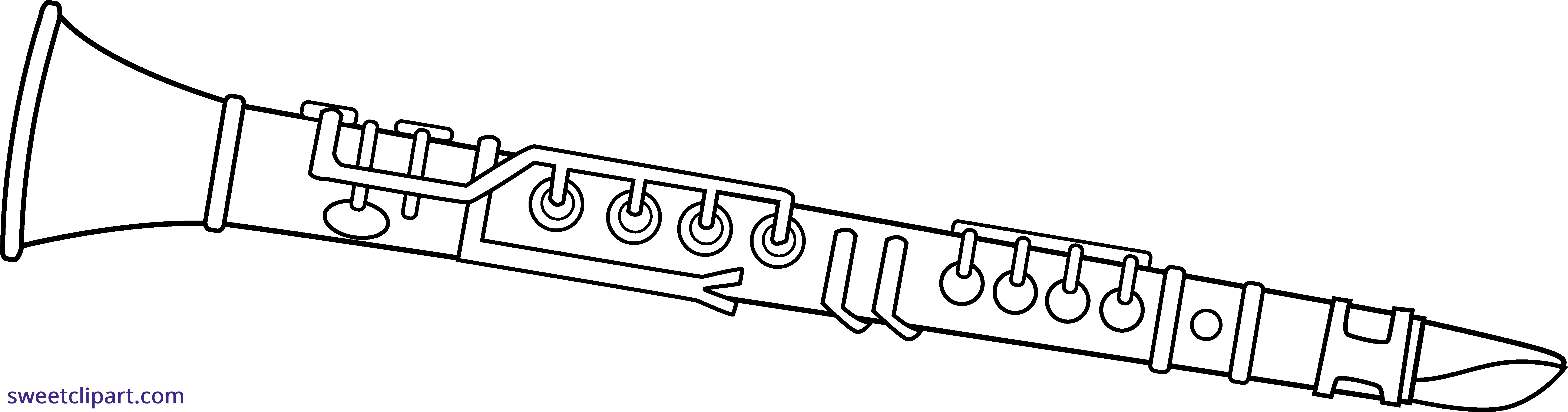 clip art transparent library Line art sweet clip. Clarinet clipart.