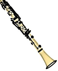 image black and white Clip art band pinterest. Clarinet clipart beautiful.
