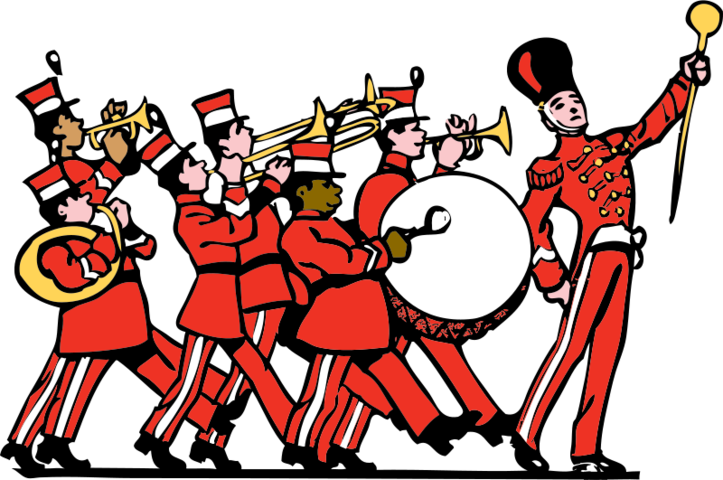 clip art Vector band vintage. Free marching psd files