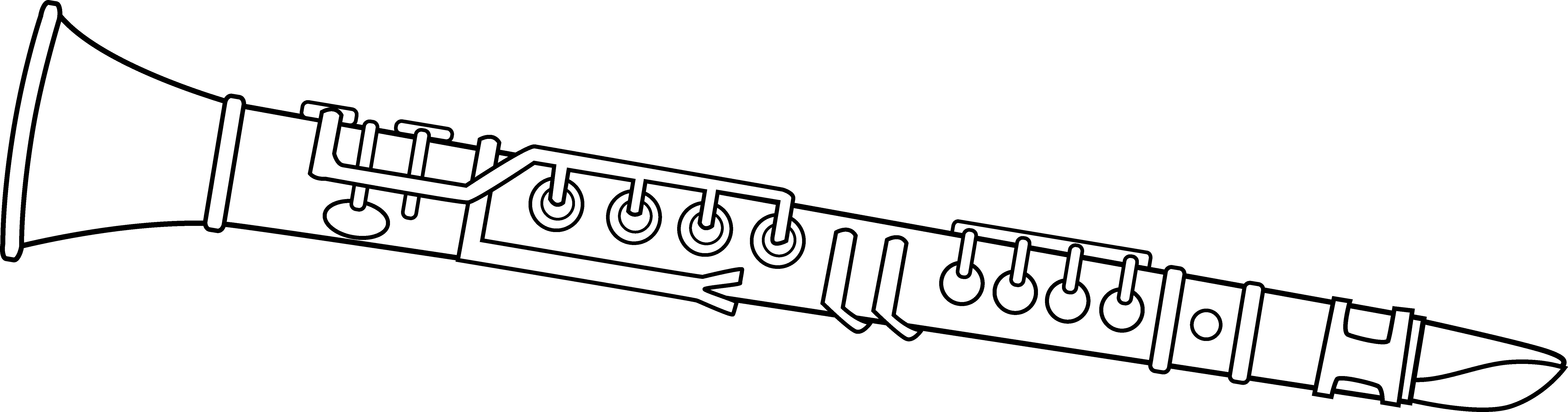 clip Black and White Clarinet Design