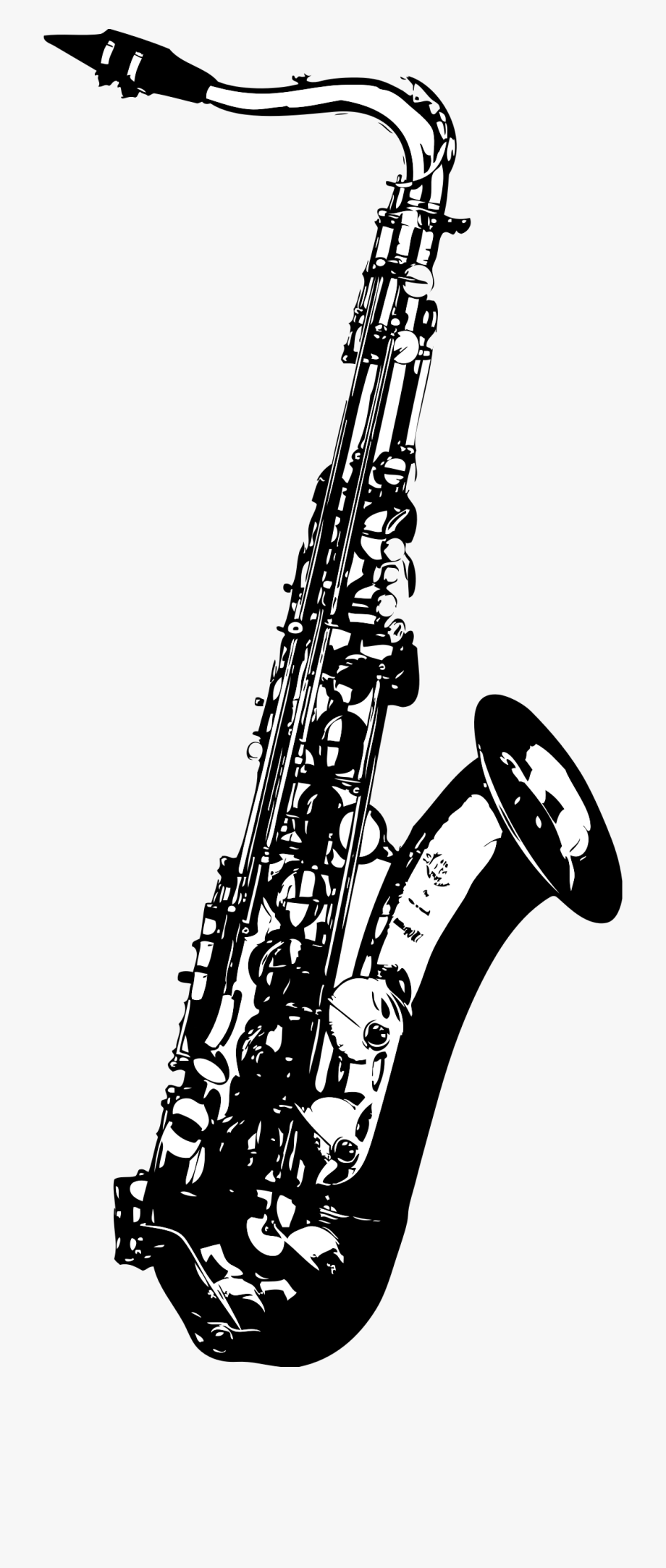 jpg library download Saxophone clipart black and white. Tenor