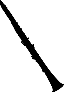 graphic free stock Clarinet outline