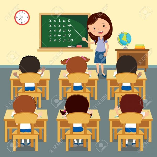 jpg library library Full classroom graphics illustrations. Class clipart