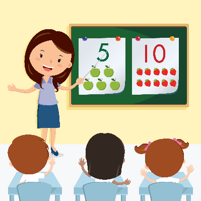 graphic transparent library In the class pbs. Teacher teaching students clipart