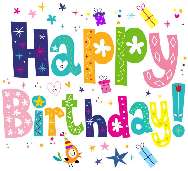 picture transparent download Happy Birthday Cute PNG Transparent Clip Art Image