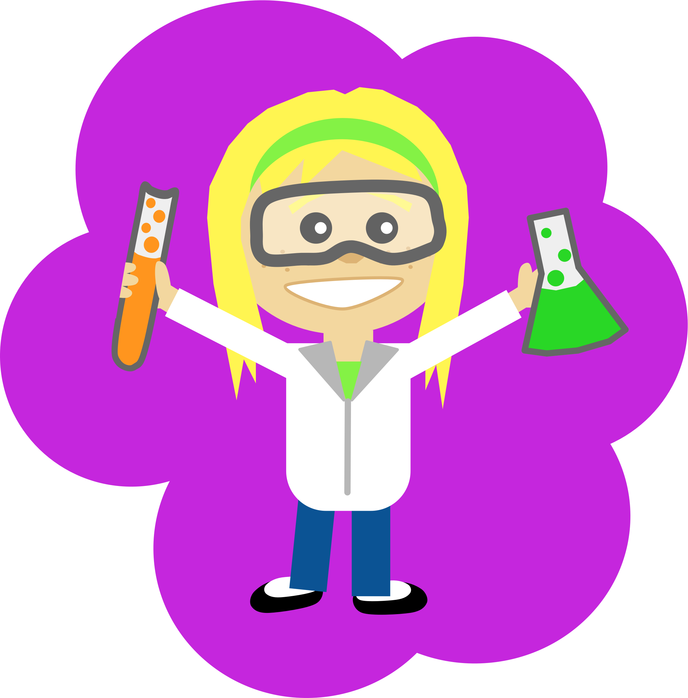 free library Coat clipart science. Girl big image png.