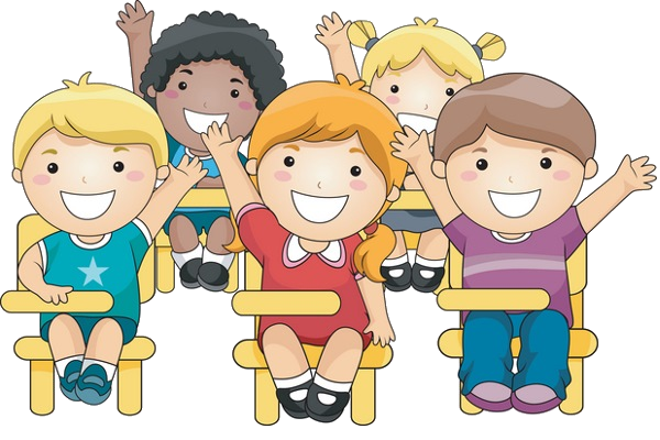 svg black and white library School children transparent png. Classroom discussion clipart.
