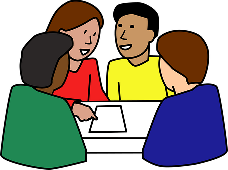 svg royalty free stock student discussion clipart #62248855