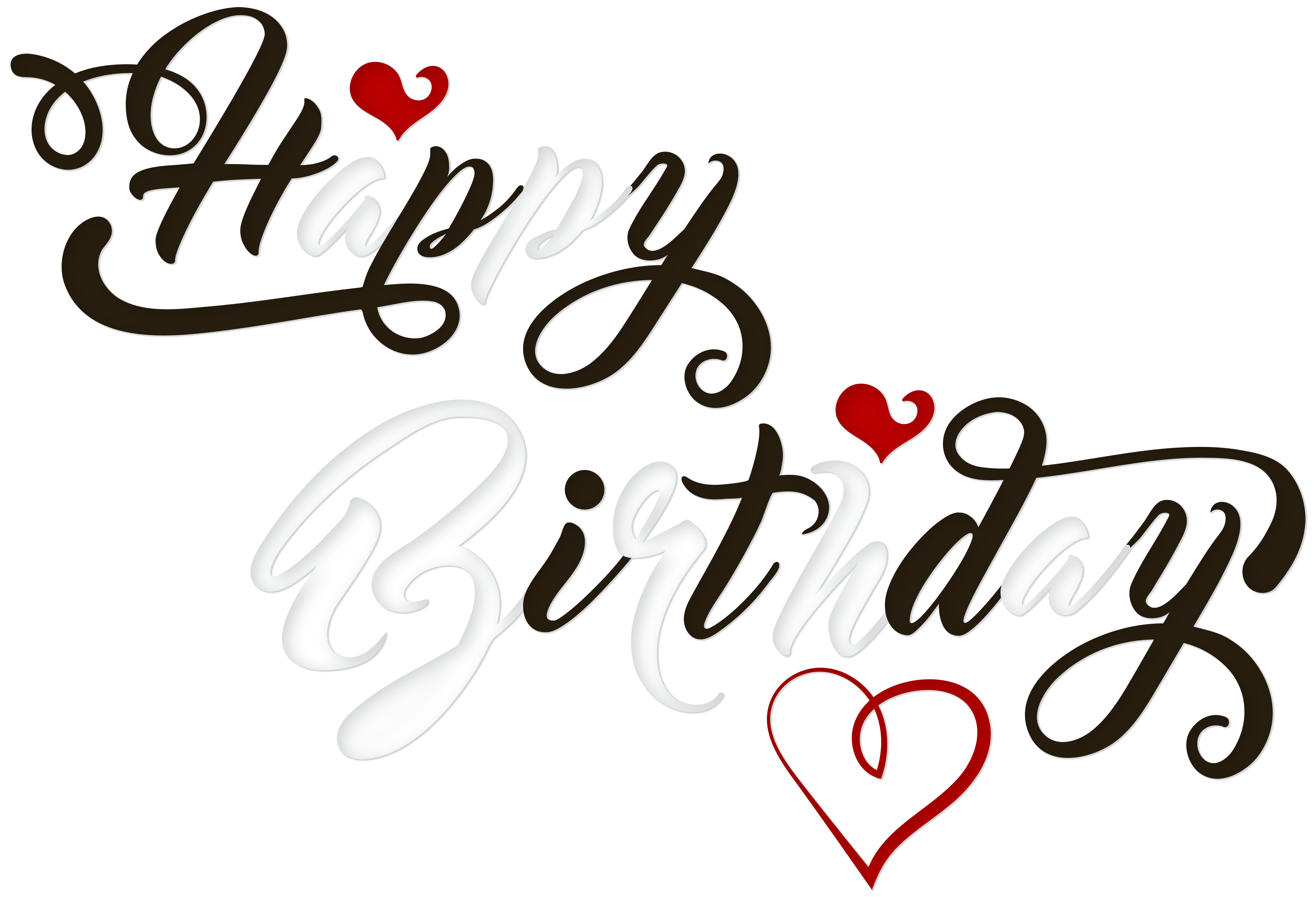image transparent download Happy birthday clipart for him. Black and white png
