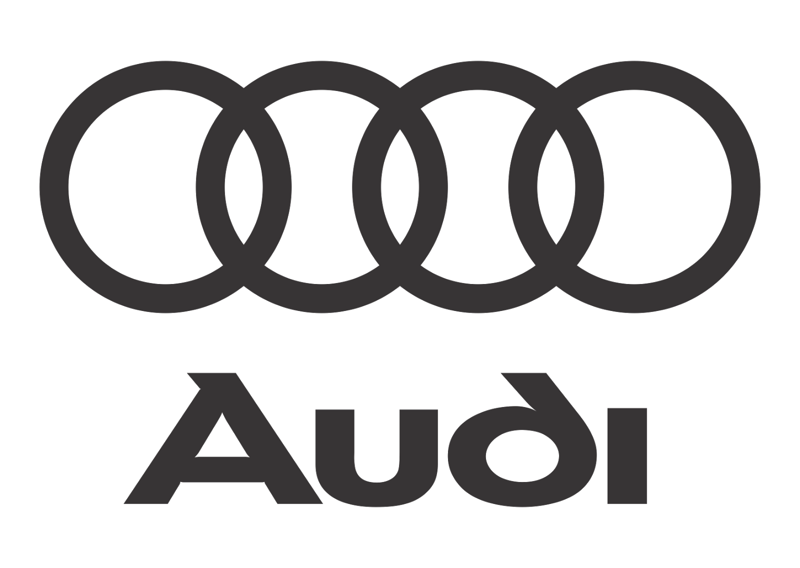 vector library Audi logo black white. Vector emblem style