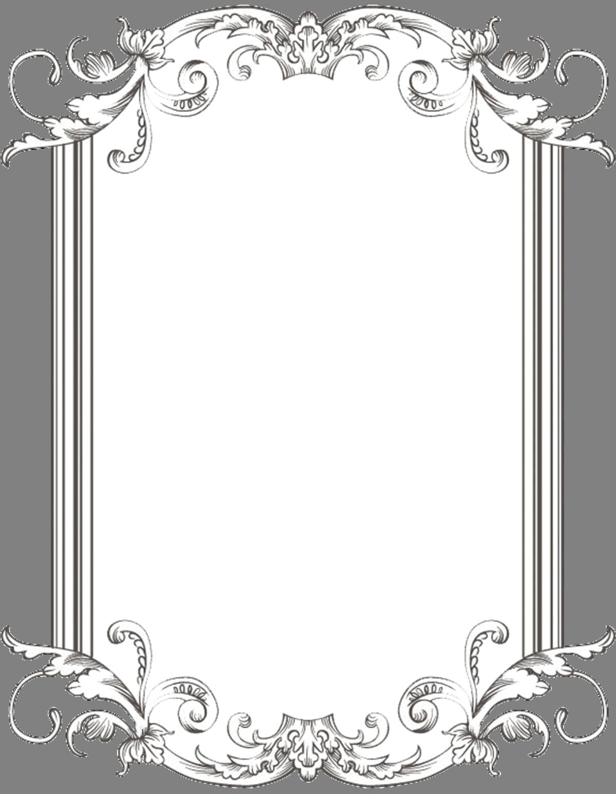 black and white stock Menu clipart menu frame. Custom vintage one by.