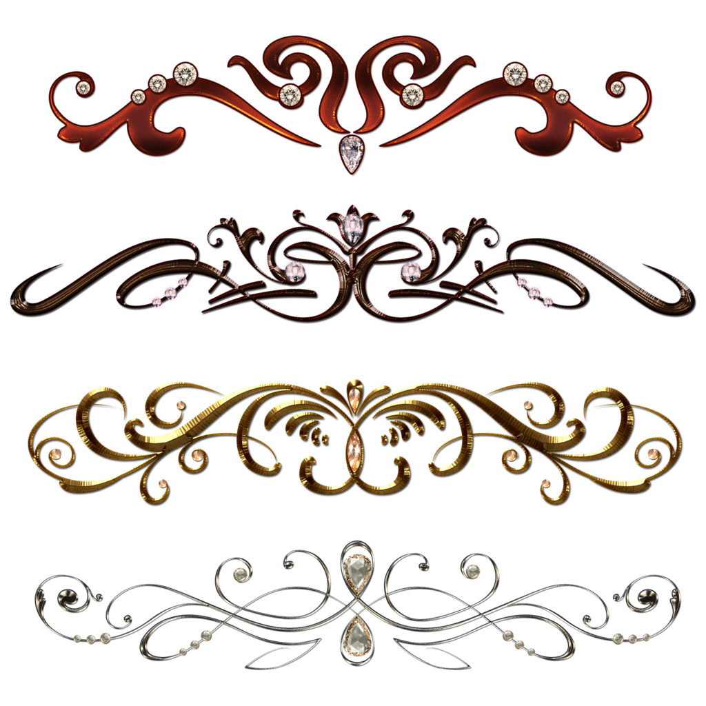 png transparent Vintage borders with gems by Lyotta