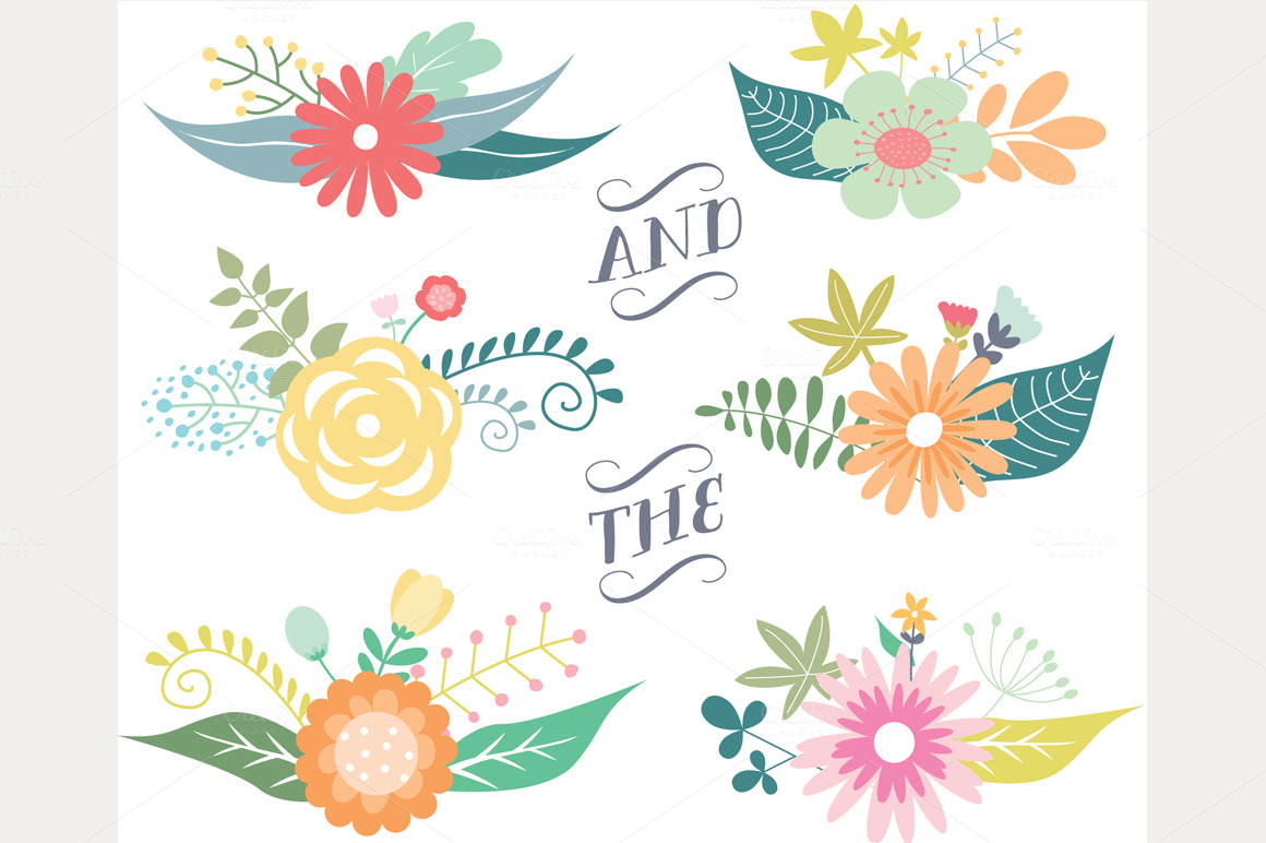 svg royalty free stock Classic clipart floral. Vintage flower cliparts zone.