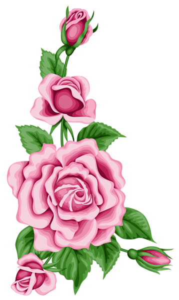 clipart royalty free library Classic clipart floral. Roses decoration png image.