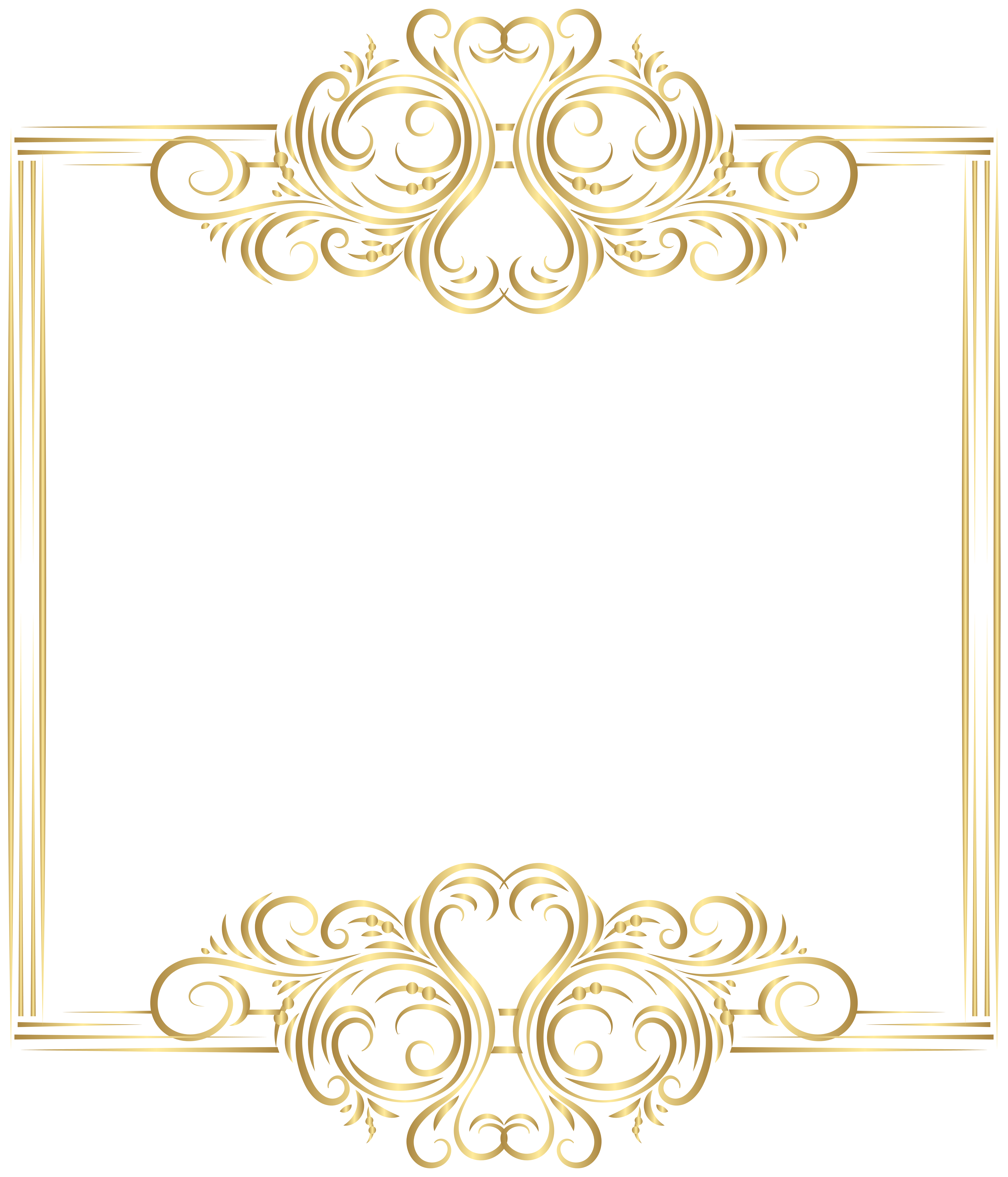 image freeuse stock Classic clipart invitation. Gold border frame png.