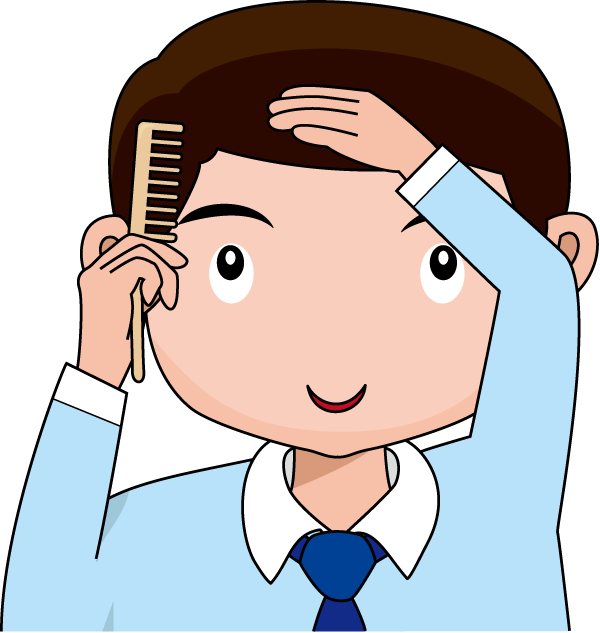 clipart library Clipart Brushing Hair