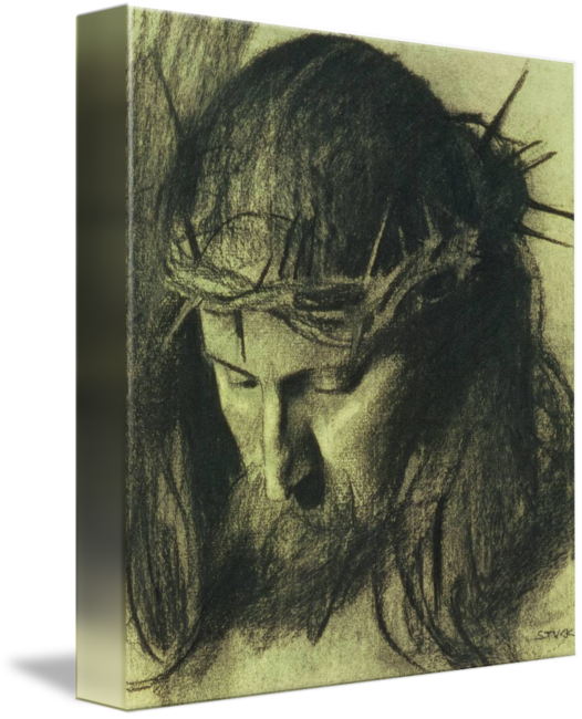 graphic library stock Drawing reflections charcoal. Head of christ c