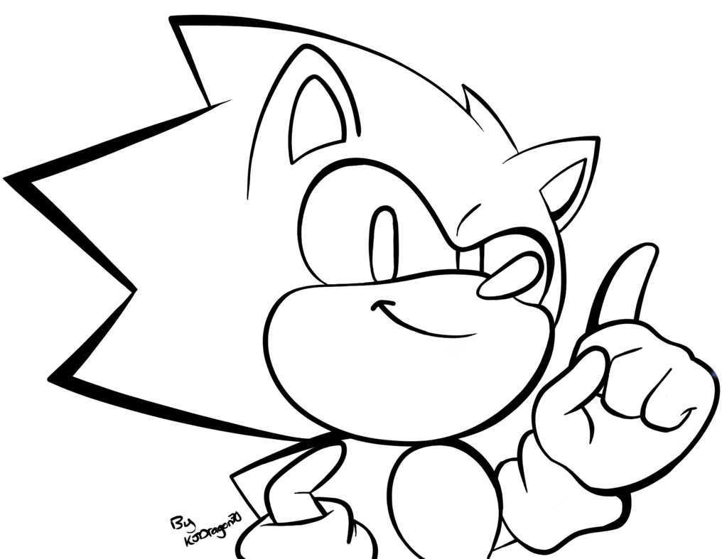 png black and white download Classic at getdrawings com. Drawing sonic simple