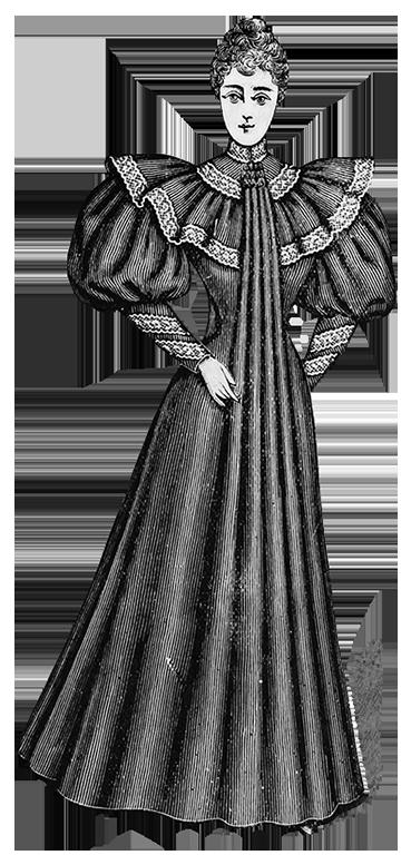 clip art transparent stock Clip art of clothing. Dress transparent victorian