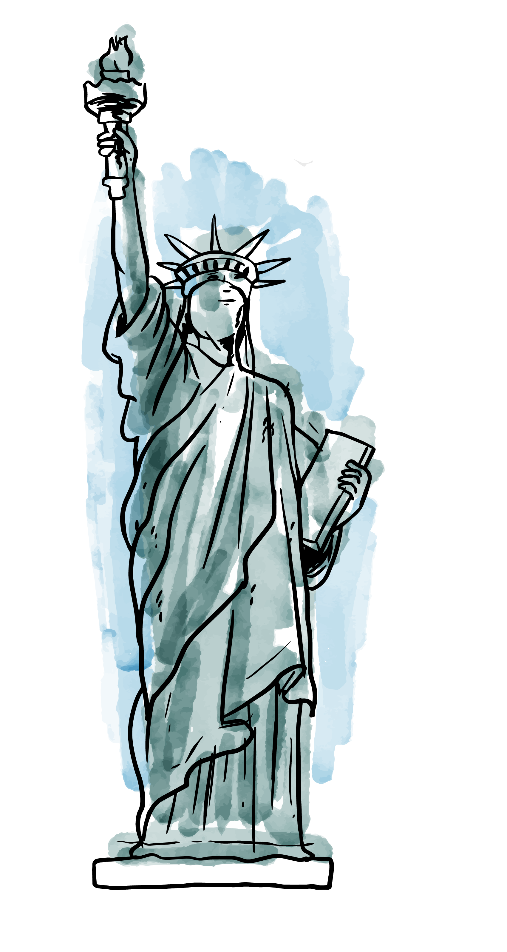 vector free download Statue of Liberty