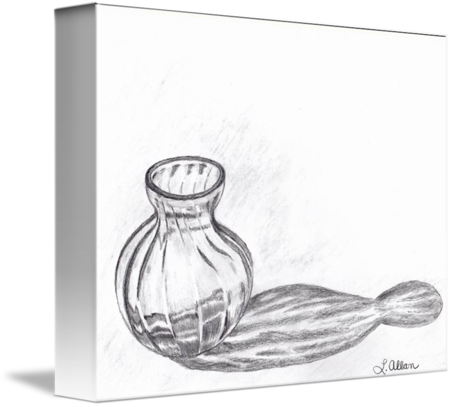 jpg royalty free download Reflection glass vase pencil. Drawing reflections sketch