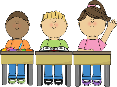 vector Students clipart. In classroom .