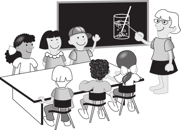 clip royalty free library Teacher chemistry clip art. Students in classroom clipart.