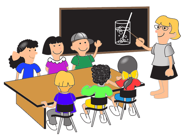 jpg stock Learning class . Classroom discussion clipart.