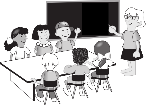 png black and white download Group clip art at. Classroom discussion clipart.